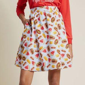 Retrolicious   Picnic Lively Vibe A-Line Skirt 1X